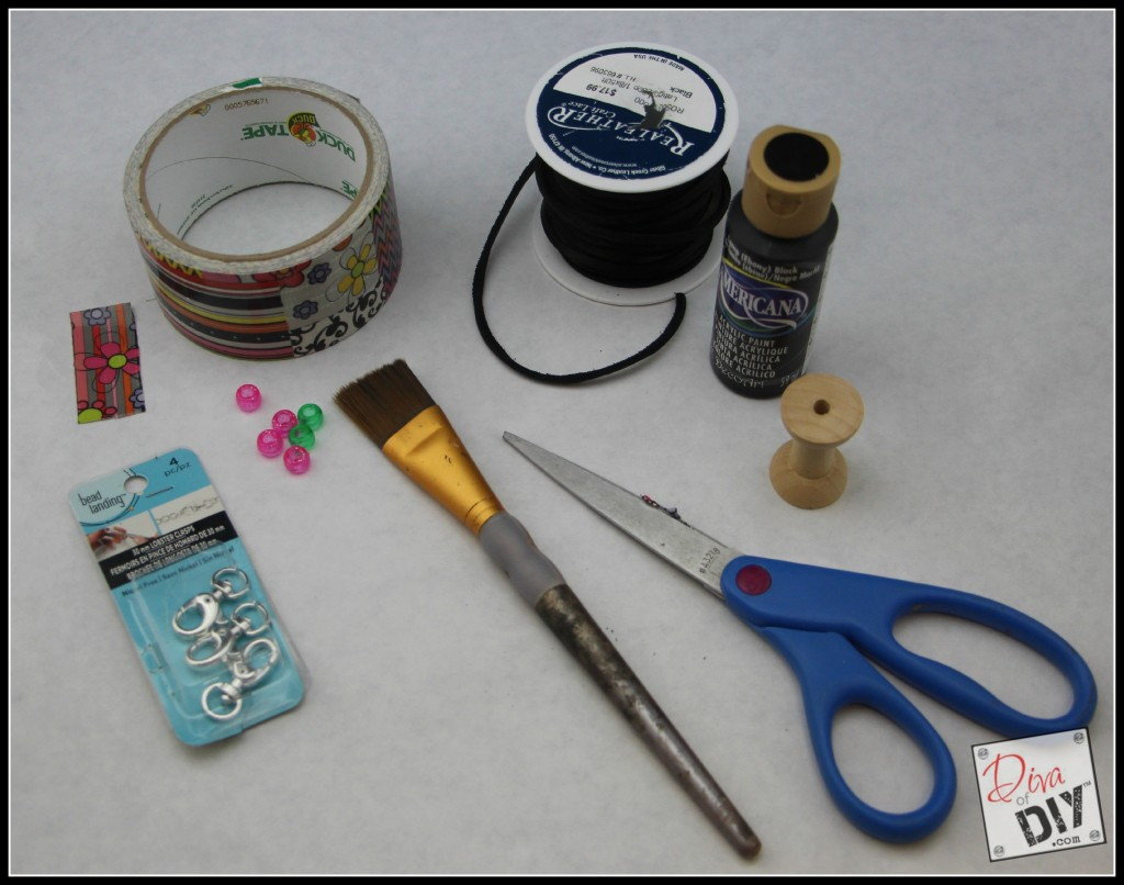 DIY Backpack clip supplies pic