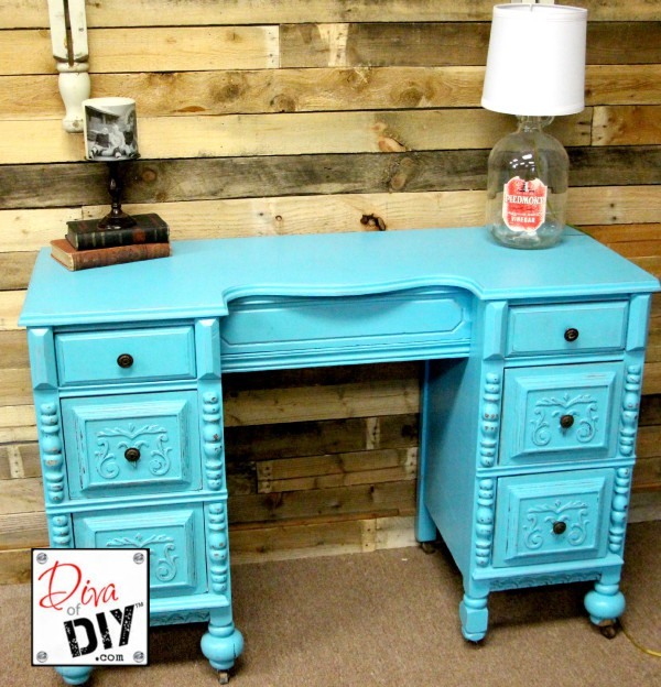 Let this desk makeover inspire you to bring beauty to the ugliest of pieces. I guarantee that you can purchase cheap and will be worth double or more when you are done.
