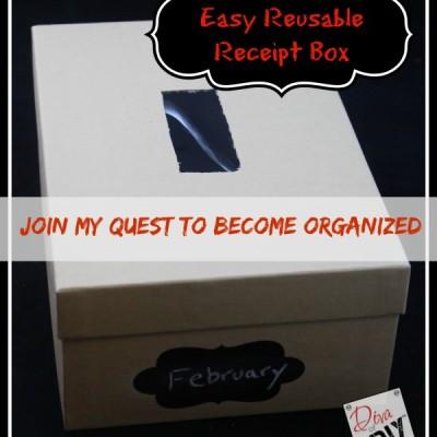Easy & Reusable Receipt Organizer