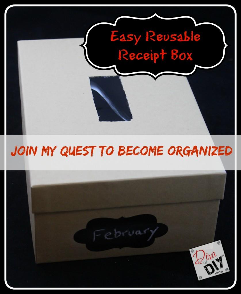 easy reusable diy receipt organizer