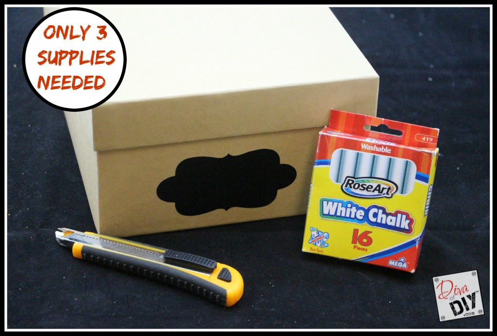 Easy Receipt Box Supply List