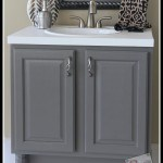 How to paint a bathroom vanity after pic