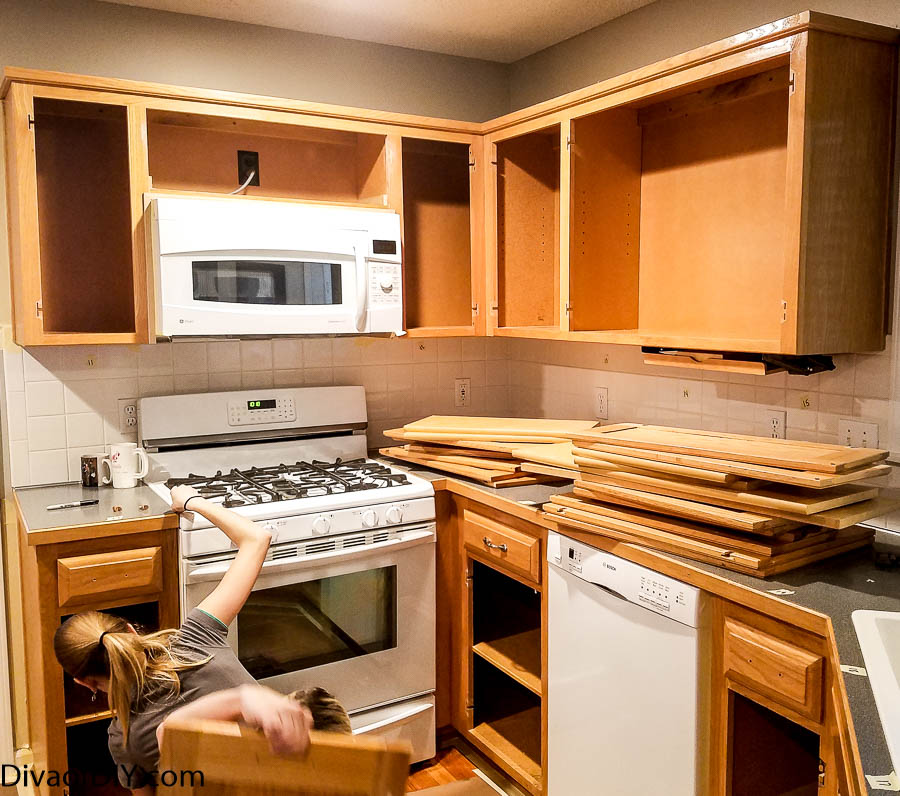 Oak Kitchen Cabinet Makeover: Oak Cabinet Makeover- How To Paint Like A Professional-11