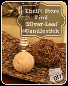 Thrift Store Find:  Silver-Leaf Candlestick