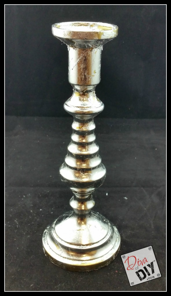 Thrift store finds brass candlestick silver leafing pic 4