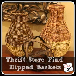 Thrift store finds dipped basket