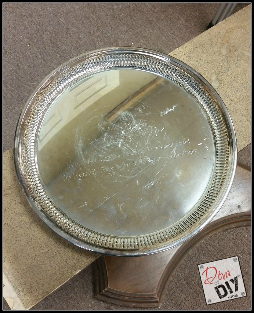 Thrift store finds silver trays