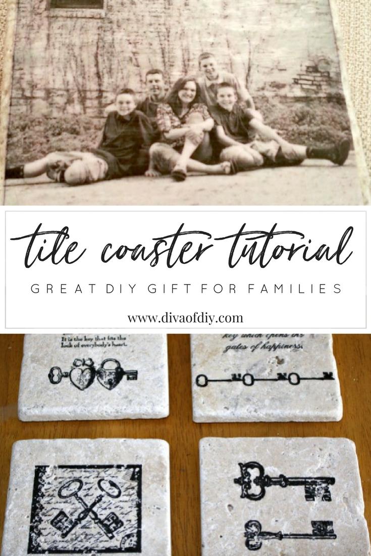 How To Make Diy Coasters Using Tiles Diva Of Diy