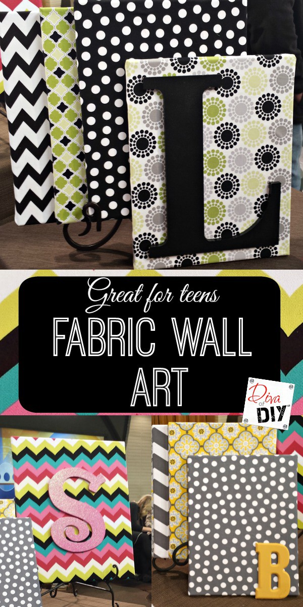 How to create beautiful fabric wall art on a dime diva for Fabric wall art