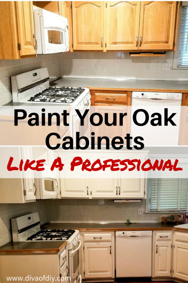 Oak cabinet makeover: How to paint like a professional | Diva of DIY