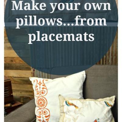 Easy, No-Sew Throw Pillows