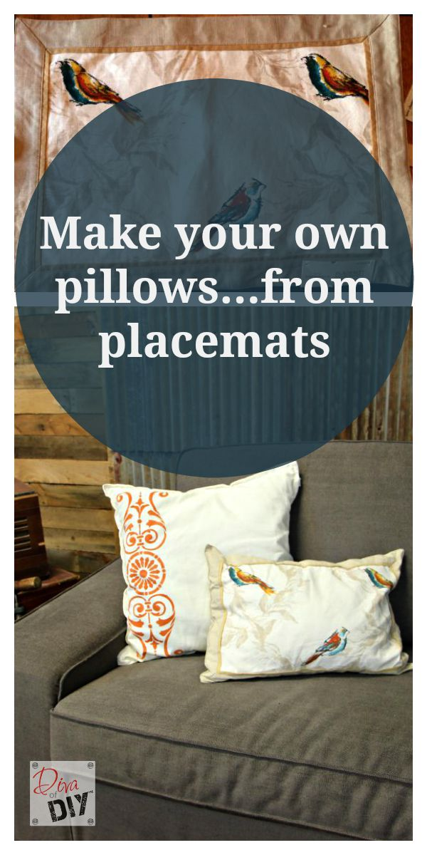 Easy No Sew Throw Pillows How To Make Pillows Out Of Placemats
