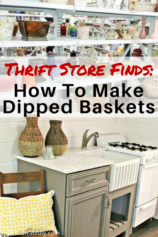 Thrift Store Finds- How To Make Gold-Dipped Baskets