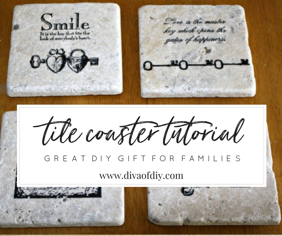 How To Make Diy Coasters Using Tiles Diva Of Diy