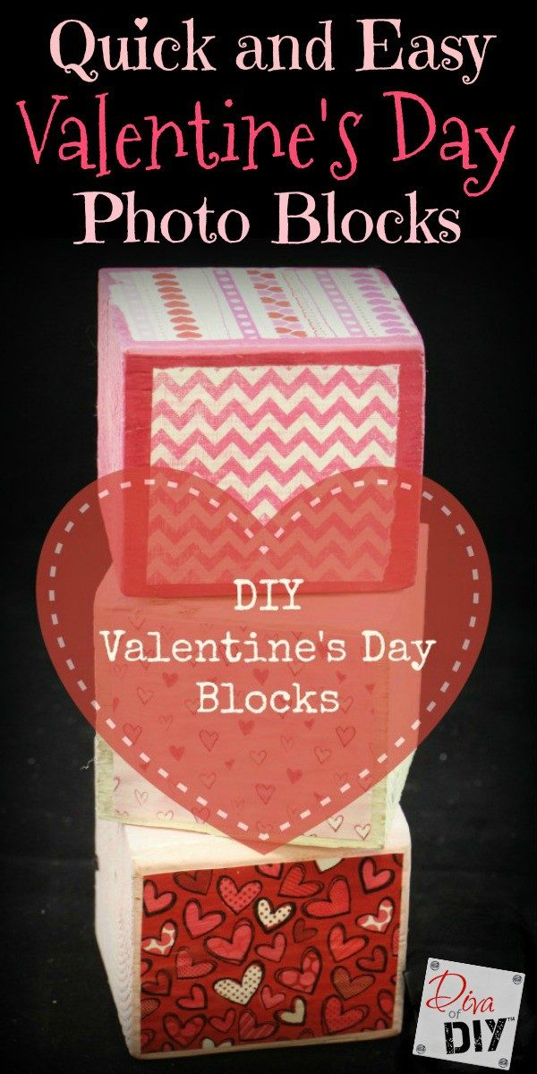 Handmade gifts make the perfect Valentine's Day Gift! These photo blocks are stylish enough for an adult DIY project and easy enough for Kids crafts!