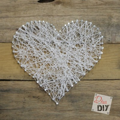 Easy and Inexpensive String Art Valentine's Day Craft