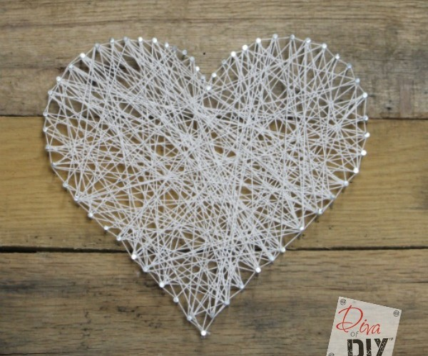 This Easy Valentine's Day Craft String Art project is fun for adults and children alike! Create an amazing work of art in less than 30 minutes!