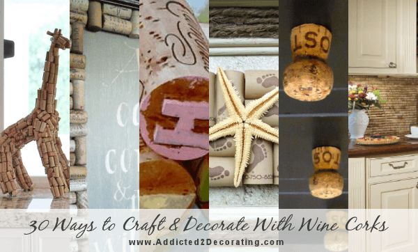 Easy and creative way to personalize your wine corks for Decorating with wine corks