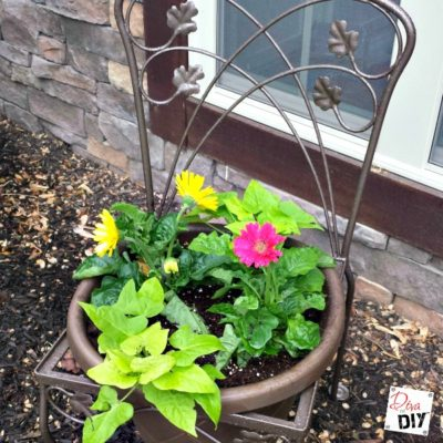 Upcycle a Old Chair into a Planter Chair