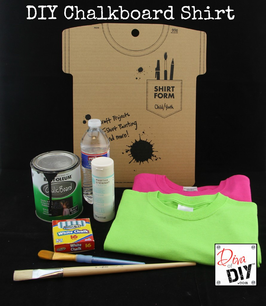 DIY Chalkboard Shirt