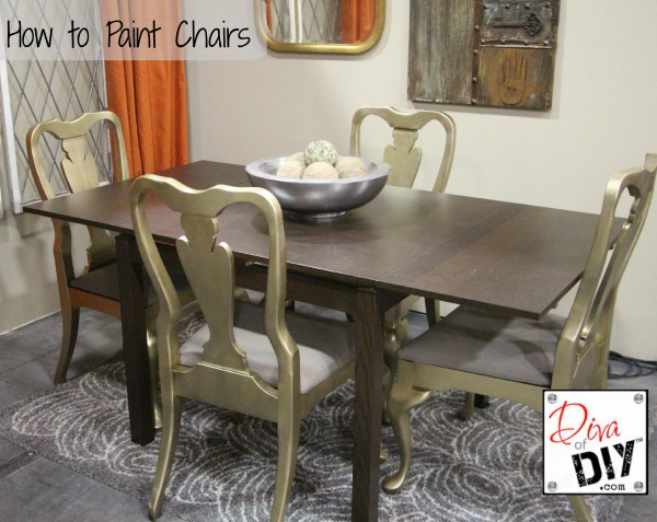 How To Paint Chairs Diva Of DIY