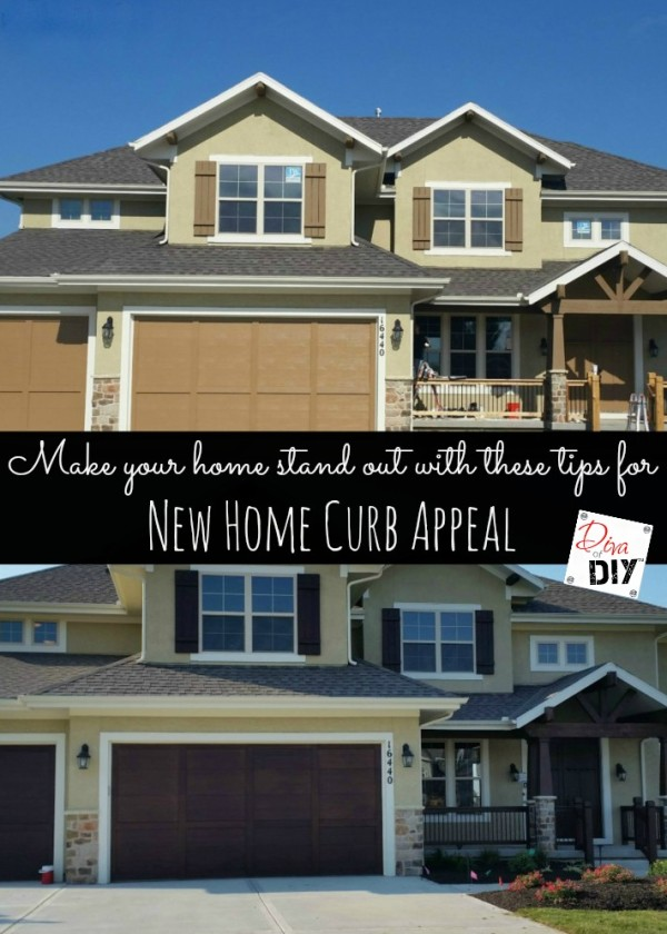New home curb appeal