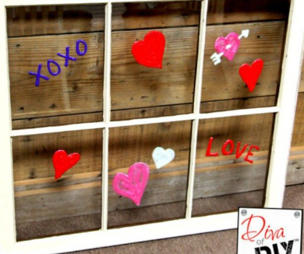 The Simplest Way to Make Valentine's Day DIY Window Clings