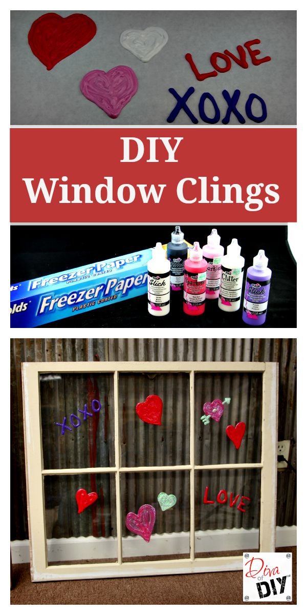 DIY Window Clings are an easy project to get the kids crafting for any upcoming holiday or occasion. The perfect Valentine's Day Kids Craft decoration!