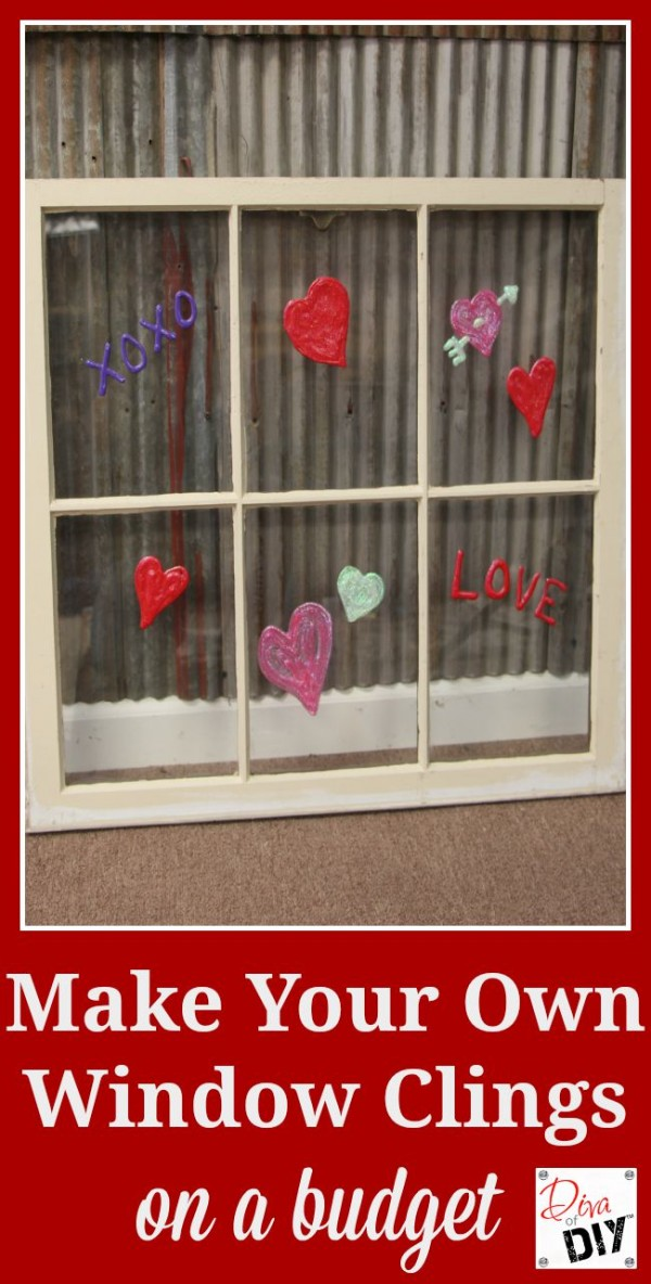 the simplest way to make valentine s day diy window clings