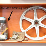 Everyone needs a small emergency sewing kit. Why not make one that can be displayed. You can with this quick and easy Mason Jar Sewing Kit .
