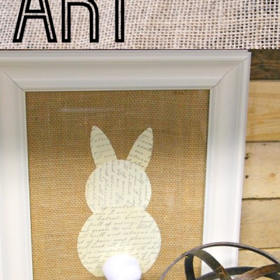 Super Simple and Inexpensive Easter Bunny Art