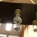 mason jar hardware storage
