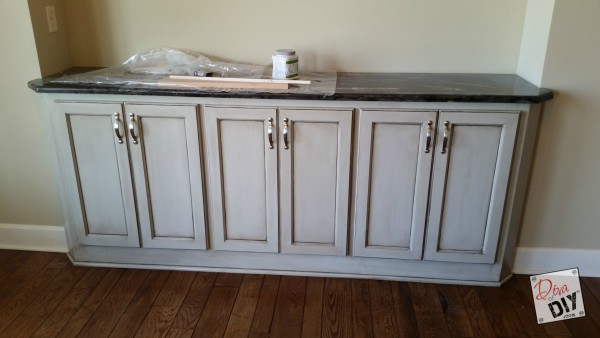 How To Glaze Cabinets After