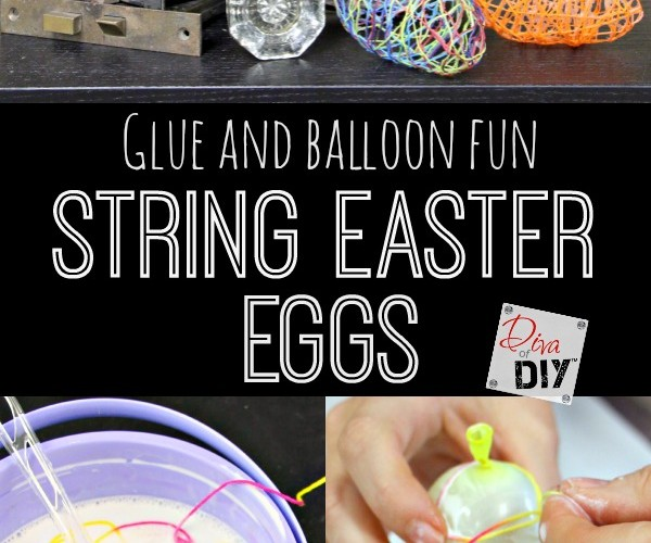 How to Make String Easter Eggs with a Balloon and Glue