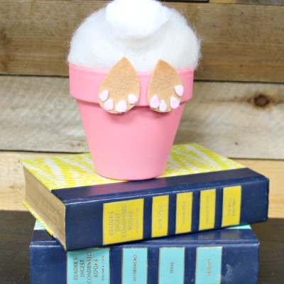 How to Make an Easter Bunny Craft in a Flower Pot