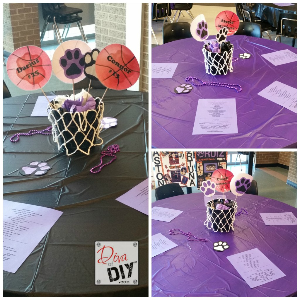 Basketball table decorations final pic