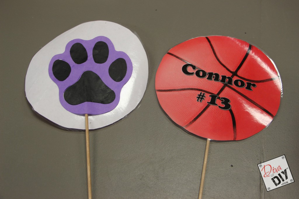Basketball table decorations pic 10