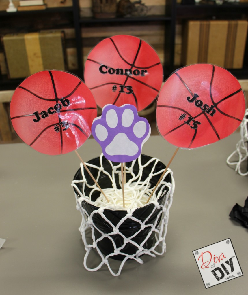 Basketball table decorations pic 11