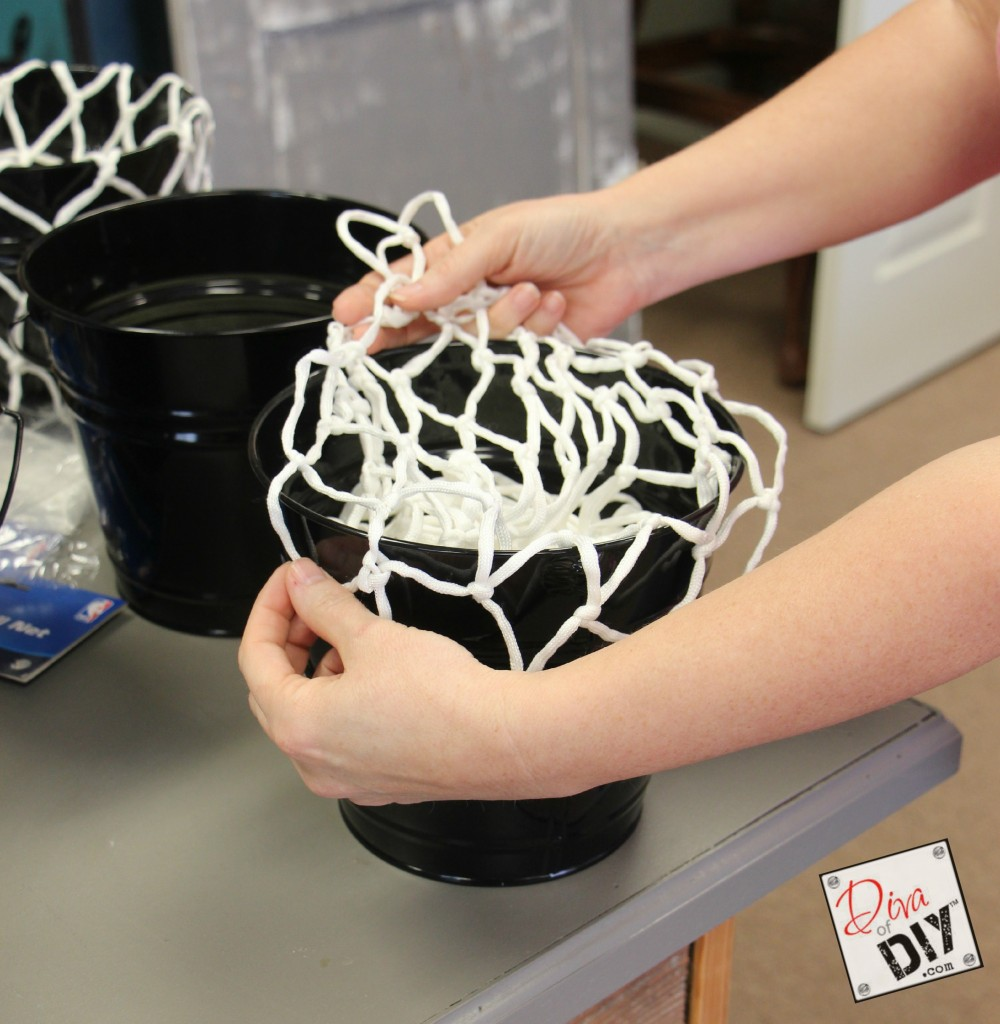 Basketball centerpiece ideas pictures to pin on pinterest for Homemade basketball court