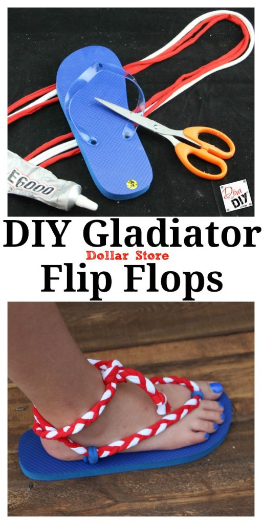 DIY Gladiator Flip Flops