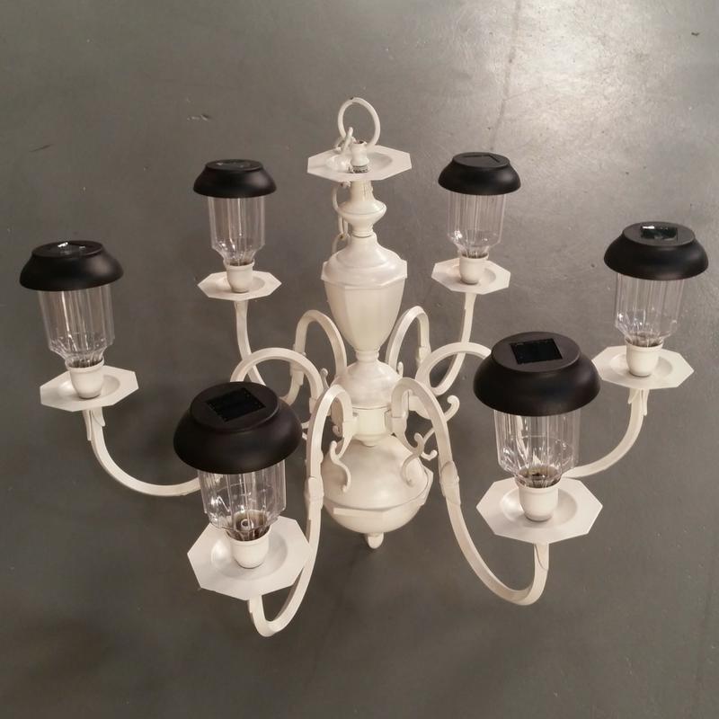 How to light up your garden with a diy solar chandelier diva of diy - Outdoor chandelier diy ...