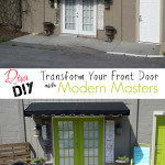 Modern Masters Front Door Paint Before and After