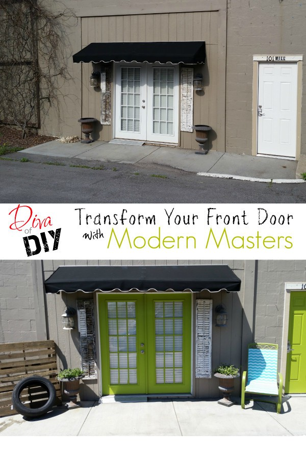 "Improve your curb appeal and increase your ""welcome-factor"" using Modern Masters Front Door Paint! Colors that hold up to the outside!"