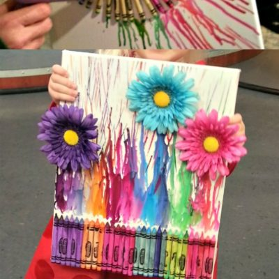 How to Make Easy and Affordable DIY Crayon Art