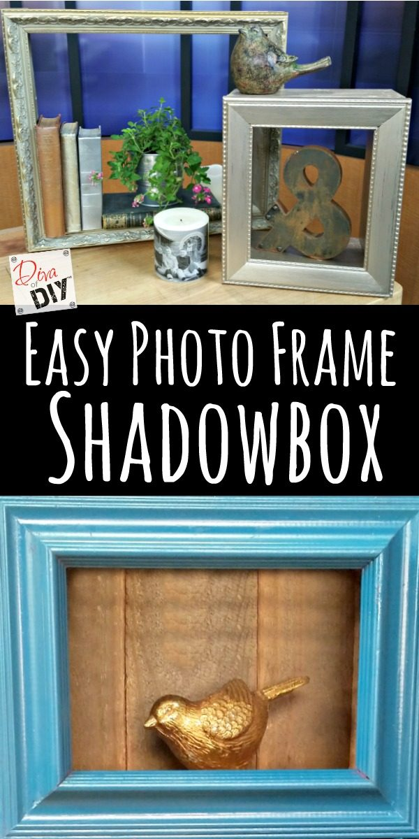 Easy Photo Frame Shadow Boxes: How to Display Your Treasures | Diva ...