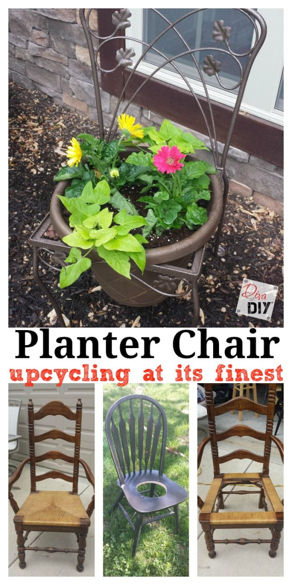 What do you do with a old chair? Turn it into a planter chair of course! This is a great way to add character to your garden and to upcycle a great find!