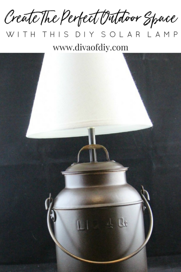 Create a beautiful outdoor space with this DIY solar table lamp
