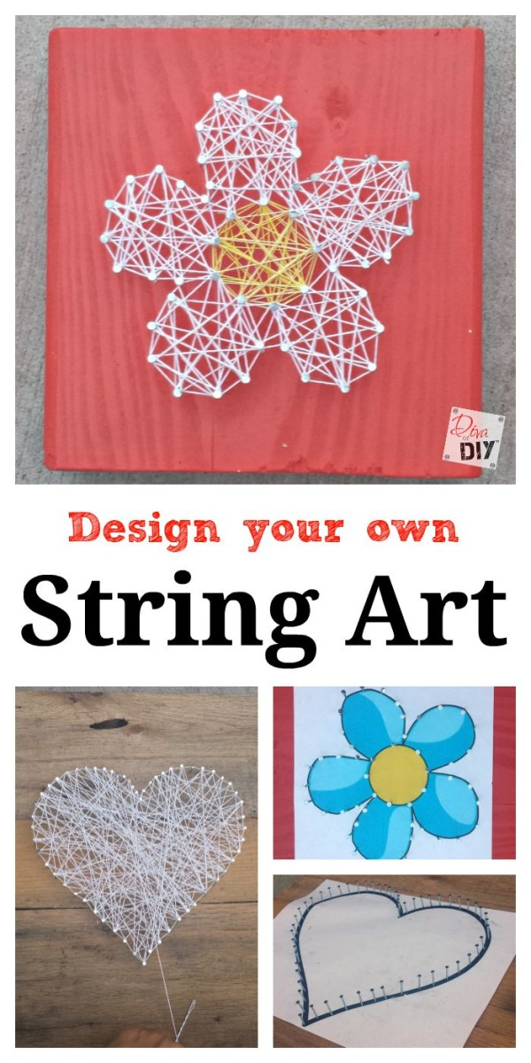 This Easy Valentine's Day Craft DIY string art tutorial is fun for adults and children alike! Create a Valentine's Day Craft or everyday craft for kids!