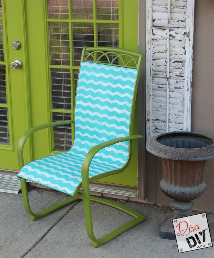 upcycled patio furniture after pic