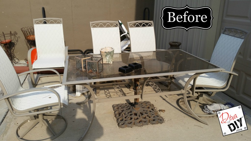 upcycled patio furniture before pic